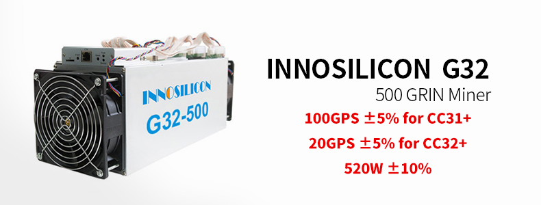 Highest Profit New Asic Miner Innosilicon Grin Miner Innosilicon G32-mini  G32-500 G32-1800 Cuckatoo31+/32+ Mining Machine - Buy Innosilicon