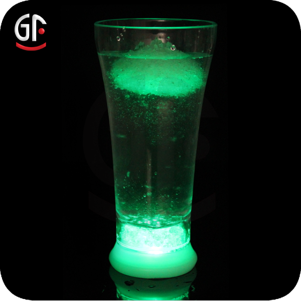 300-400ML Jell Indian Christmas Party Favor Blue Light Characters Glass Bottle for Fruit Juice