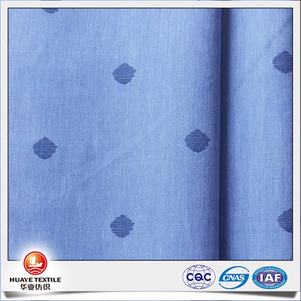 yarn dyed cotton chambray voile printed fabric for shirt