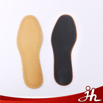 100 Genuine Cowhide Leather Insoles Comfort Perforated Latex Foam