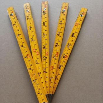 MM/Inch Size 2M Wooden Folding Ruler High Quality Yardstick
