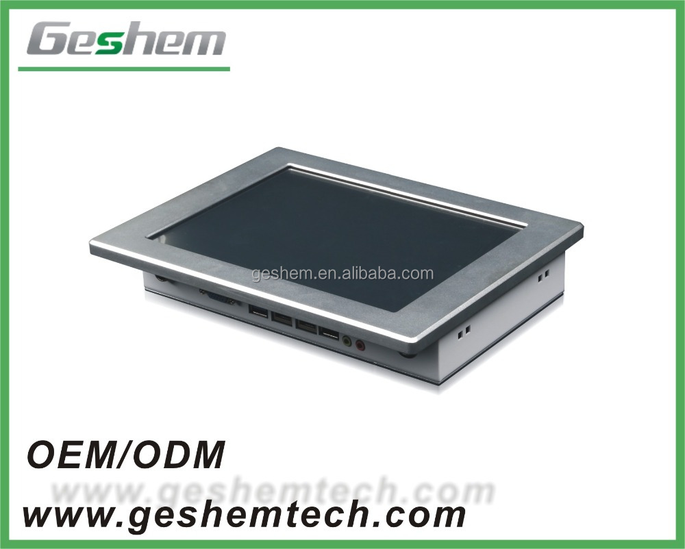 10.2 Inch touch Panel Fanless Embedded Industrial PC With RS485/RS232
