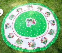 Baoding supply fashion printed round beach towel with tassel