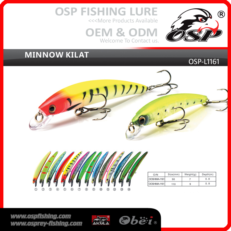 MINNOW KILAT Artificial wobbler Hard fishing lures OSP laser minnow fishing lure