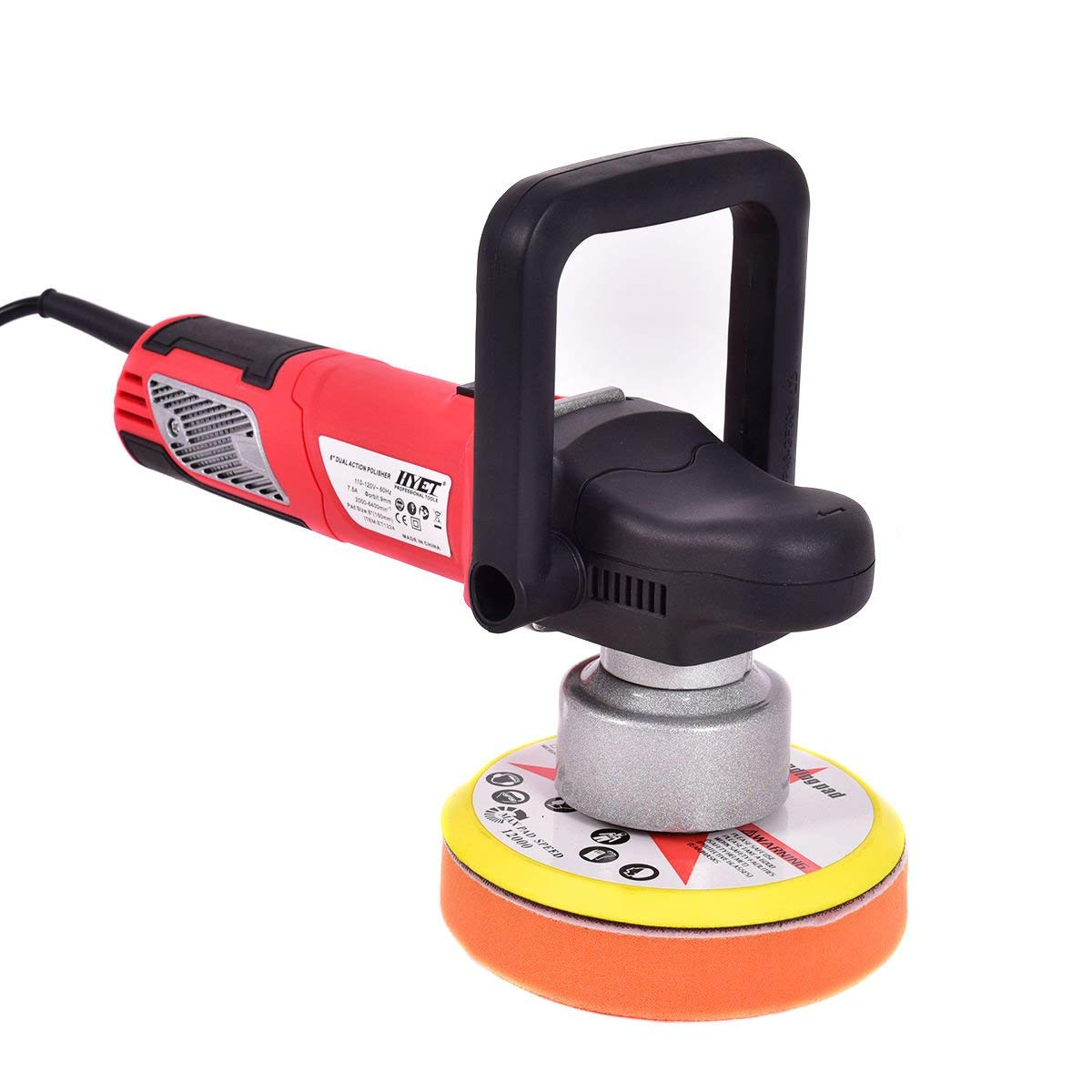 "Jikkolumlukka 6"" Variable Speed Dual-Action Polisher Random Orbital Polisher Kit Auto Detail,NEW"