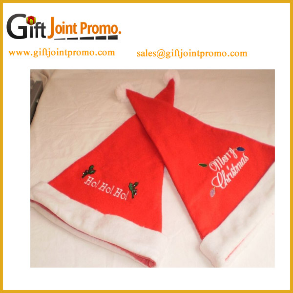 Embroidery Christmas Hat Decorations