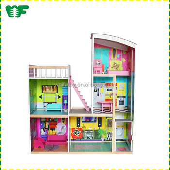 Antique Wooden Cheap Doll House Furniture Set Buy Kitchen Wooden Doll House Furniturecheap