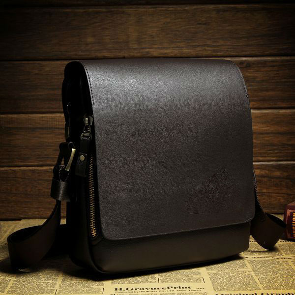 Whole Minimalist Simple Men Pu Leather Shoulder Messenger Bag Mens Product On