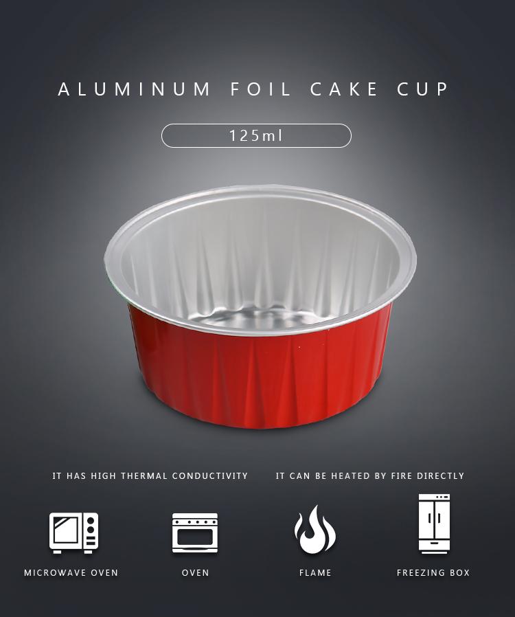 small color 120ml aluminum foil baking cups