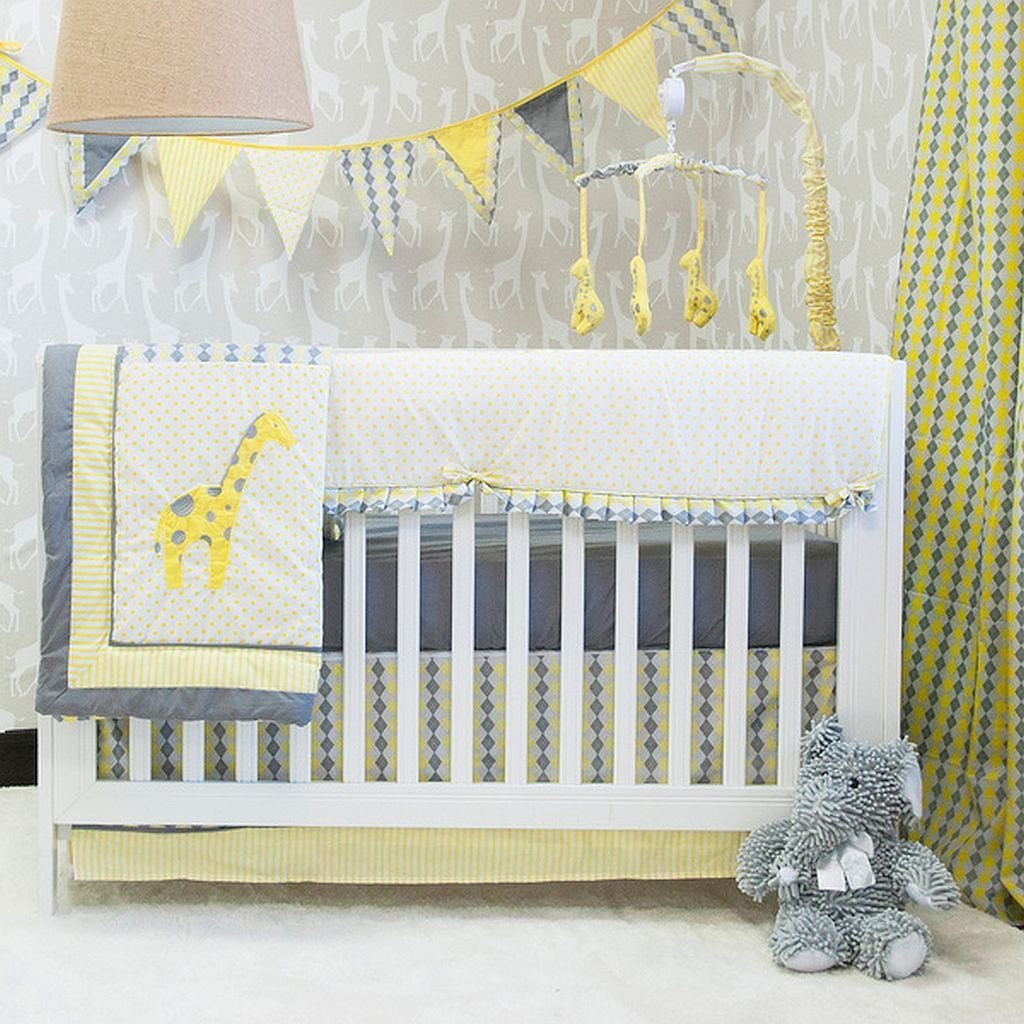 Giraffe Crib Bedding Set Perfect For Both Boys And S Give Your Baby A