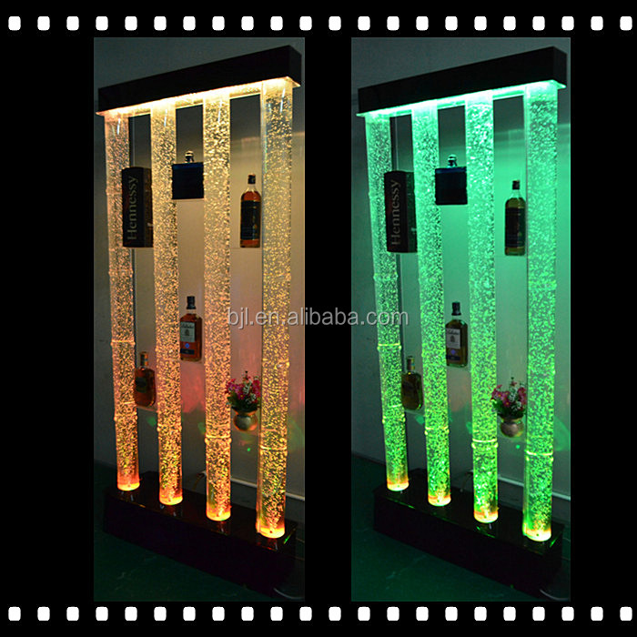 NEW design LED Acrylic water bubble glowing tubes night club bar cabinet wall <strong>decor</strong>