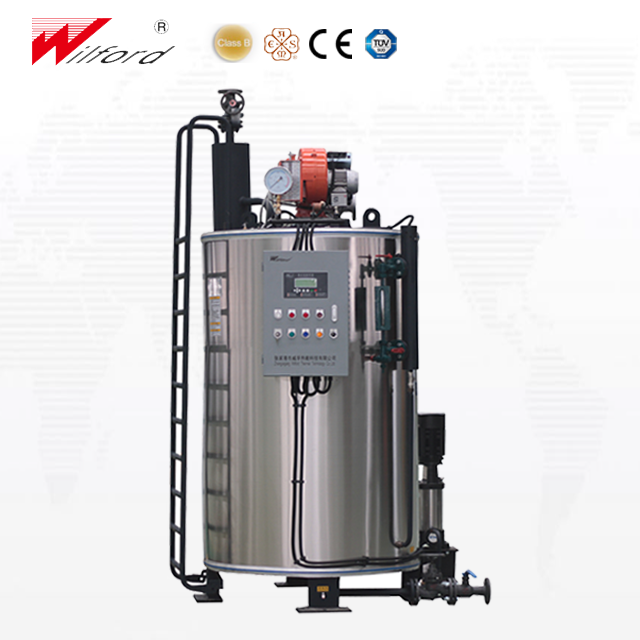 induction heating steam boiler with fuel