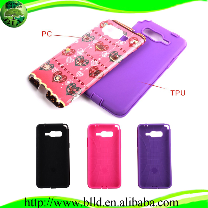Watering printing PC TPU hybrid custom shockproof waterproof phone case for Samsung Galaxy Prime G530H