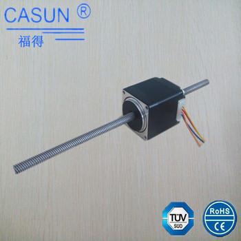 Threaded shaft nema 11 non captive stepper motor 2 phase for Threaded shaft stepper motor