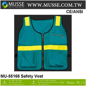 MU-55168 reliable cheap yellow safety reflective vest reflective safety cloth 65/35 polyester cotton yarn