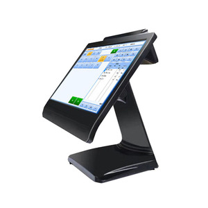 15 inch Pos system all in one for Retail and Restaurant Dual touch screen pos