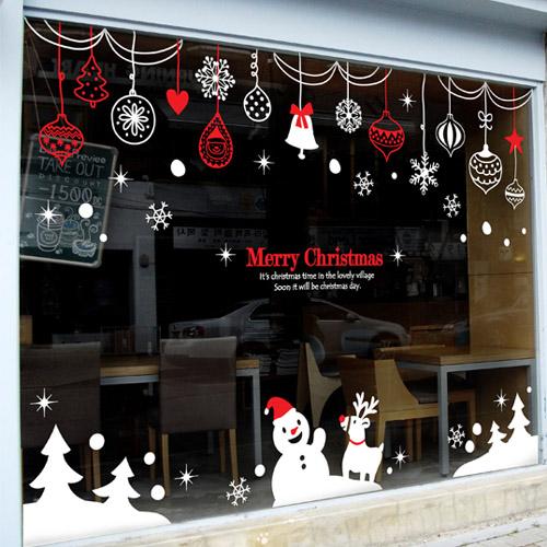 2016 Christmas Vinyl Wall Decal Rings Snowman Christmas