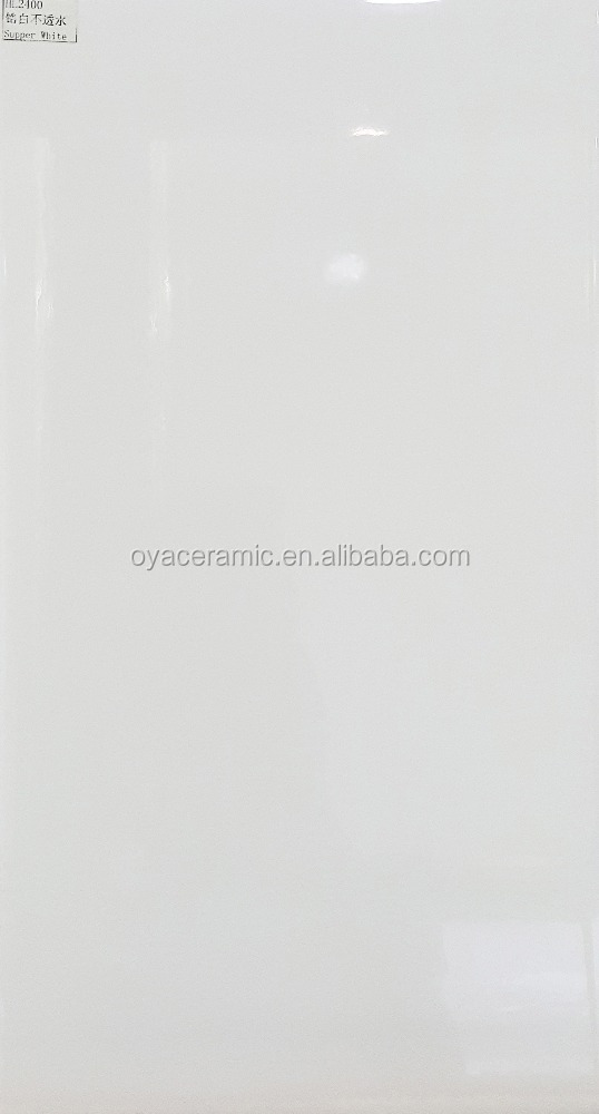 kitchen 200x400mm Natural Plain White Color Ceramic Wall Tiles