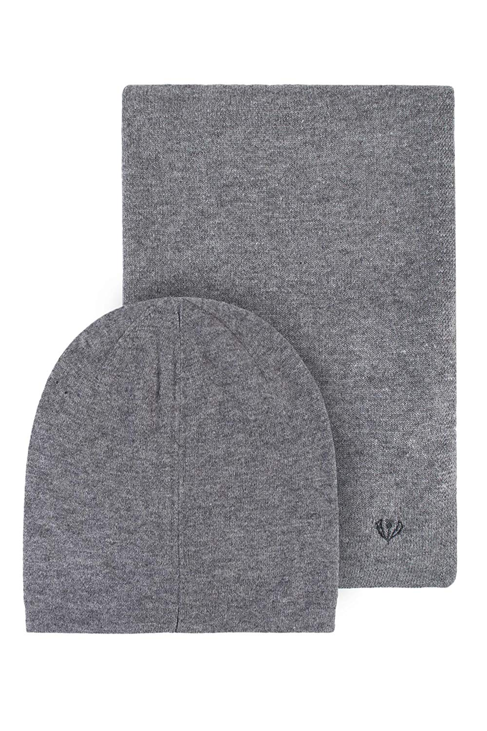 55bb046dd3e Get Quotations · Mens Fraas Wool and Cashmere Blend Plain Hat and Scarf Set