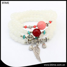 New fashion personalized bohemian style multilayer bead wings bracelet