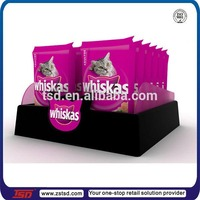 TSD-A848 Custom point of purchase plastic cat food displays,acrylic display tray,pet store equipment