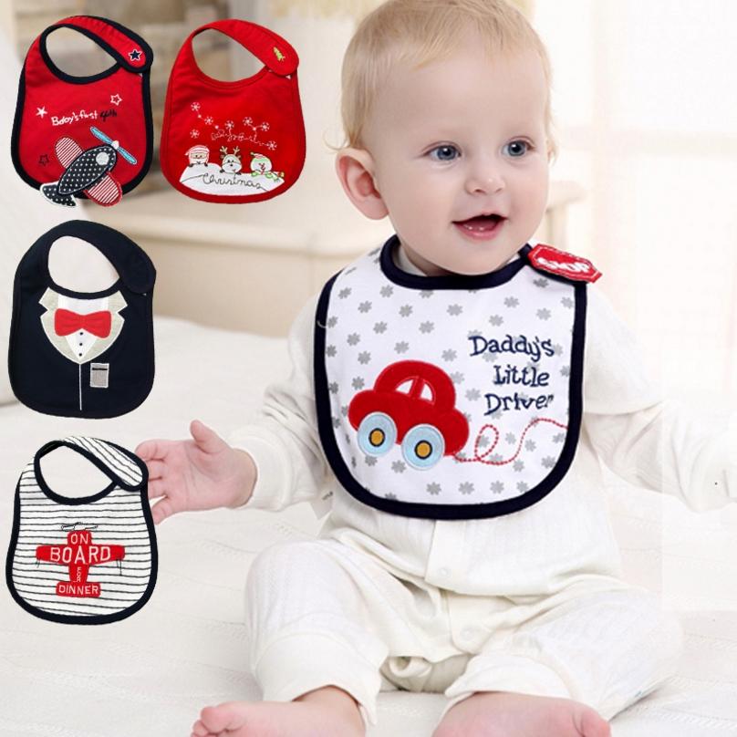 Bibs Newborn Boys Girls Cotton Toddler Waterproof Feeding Saliva Towel 5X
