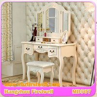 factory directly cheap white vanity dressing table, wood bedroom furniture