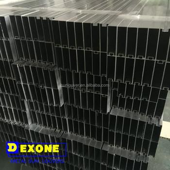 Aluminium Box Louver Profile For Facade Louver Or Ceiling
