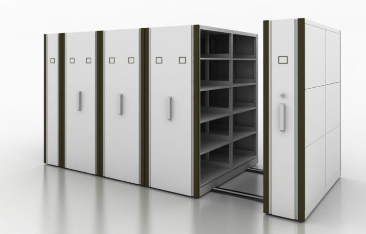 Office Cupboard Metal Mobile Filing Cabinet Storage Equipment Drive In Rack Library Book Shelving Shelf