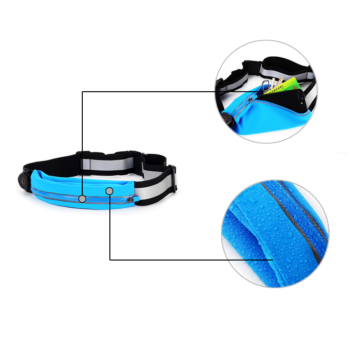led night running pouch