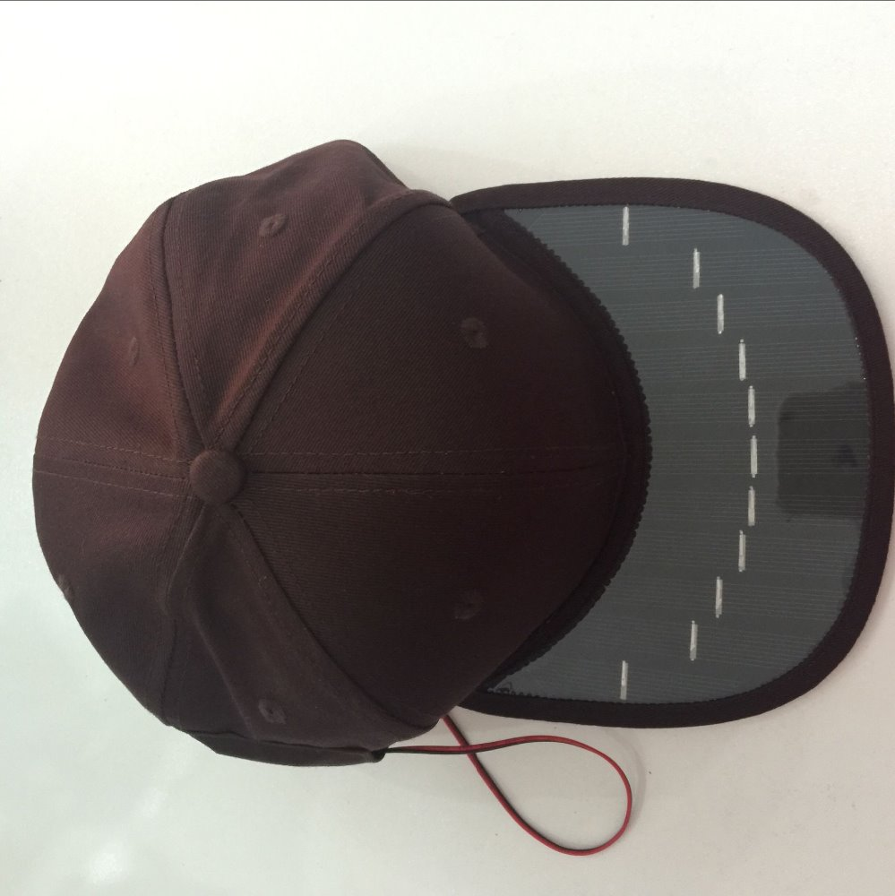 High quality <strong>cap</strong> manufacturer 6 Panel blank cool sun <strong>cap</strong> solar fan <strong>cap</strong>