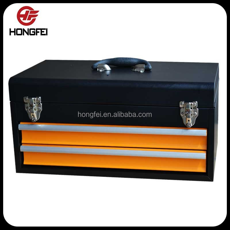 spot weld 18 inch mini rolling tool storage box in black and <strong>orange</strong>