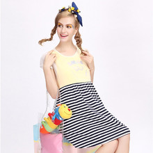 Retail 1PC Maternity Clothes Summer Dress For Pregnant Women Casual Striped Cotton Maternity Dresses 2016 New