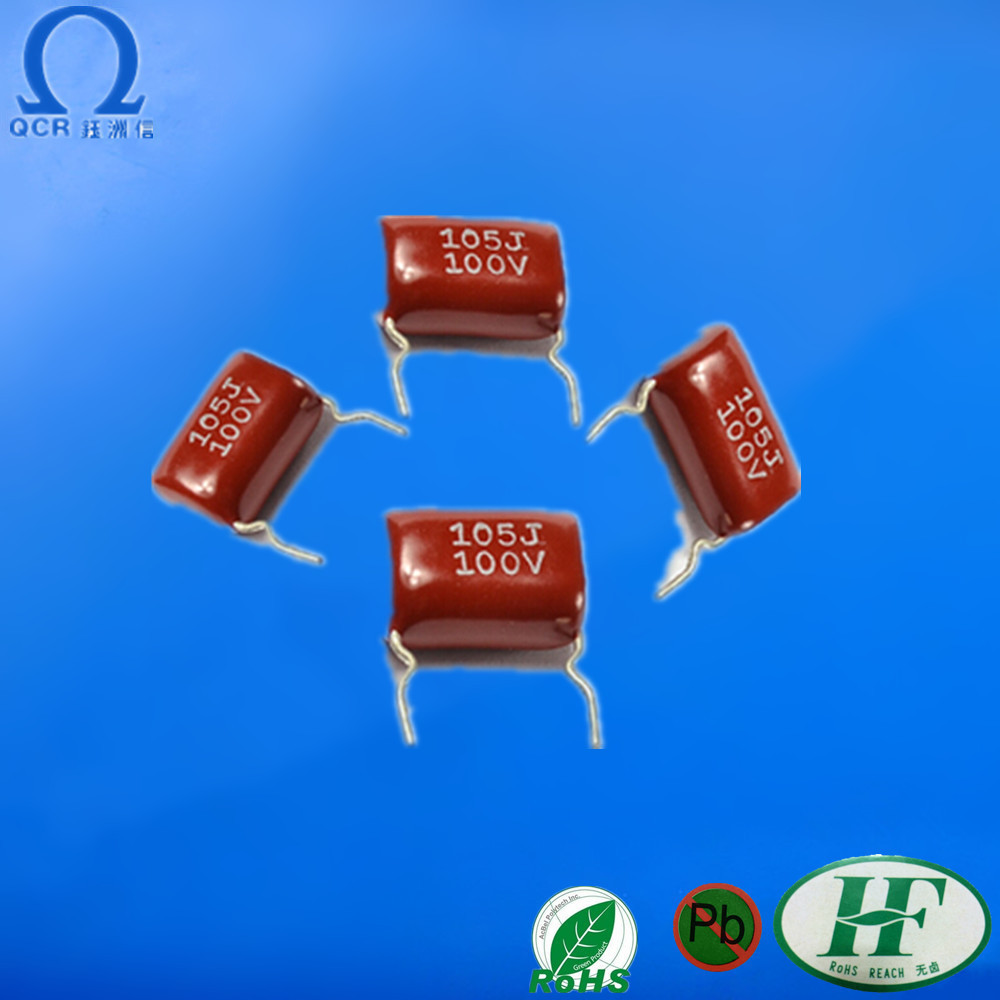 QCR electronic components multilayer epoxy resin capacitors 104 400v super capacitor