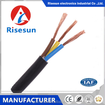 RVV Soft Listed Copper Conductor House Wiring Electrical Cable Good Electrical  Cable Voltage Power Cable