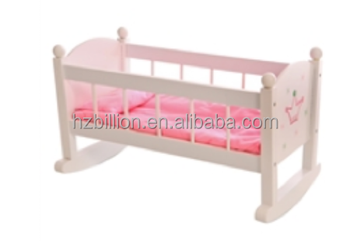 New Design Wooden Baby Doll Furniture Rocking Bed Wish Crown Doll Cradle Buy Mdf Wooden Baby Doll Cot And Cribs In Doll Furniture Baby Furniture