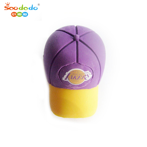 Fancy 3D Baseball Cap Shaped Rubber Erasers For Kids Toy