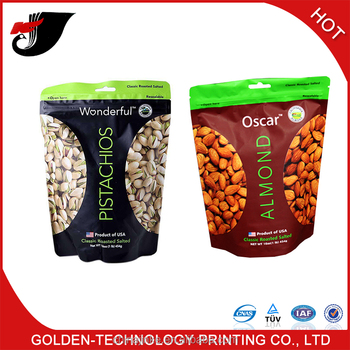 Nuts/dried food stand up packaging bag