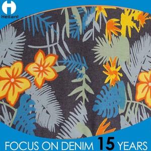 3a6b0d8fad9 Flower Pattern Denim Fabric Wholesale