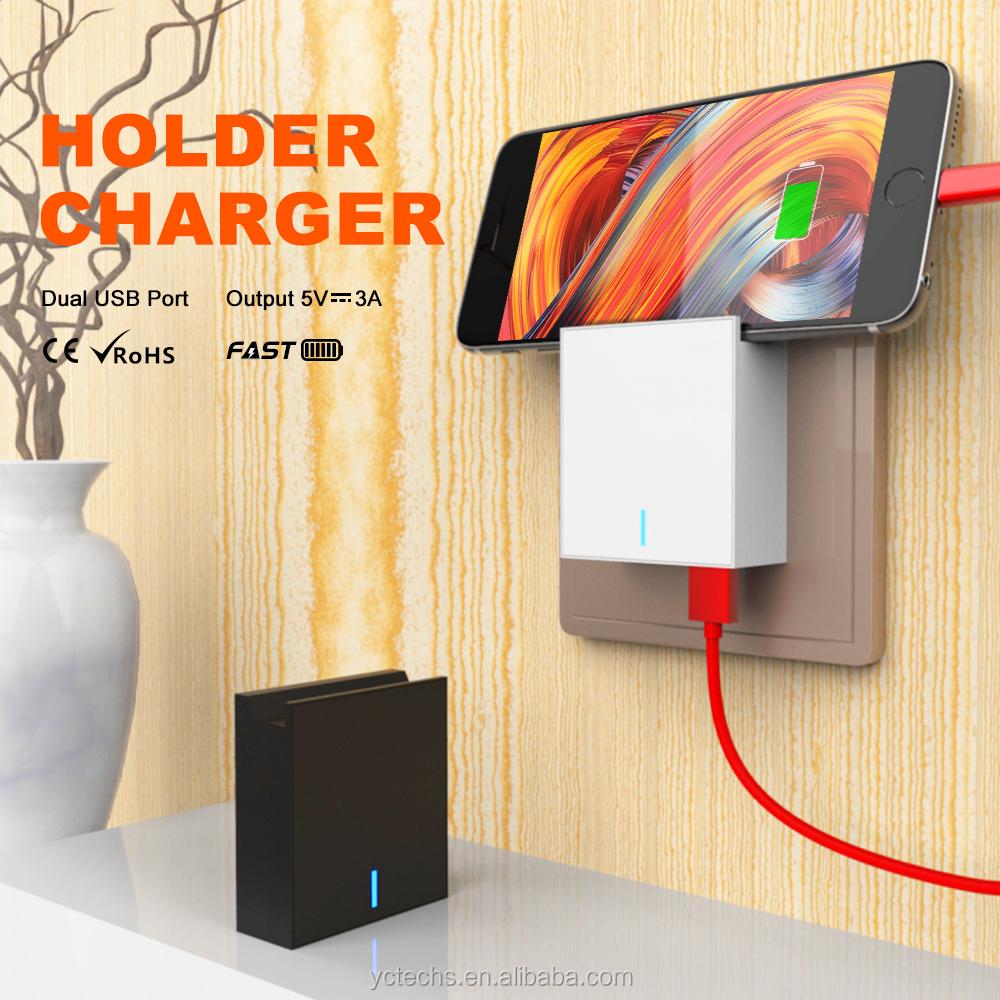 USB מטען קיר, מטען מתאם, 3A כפולה יציאת מהיר מטען תקע עבור iPhone X לסמסונג גלקסי S7/S6/S5 קצה