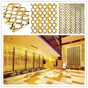 Wire-wove Stainless Steel Exterior Wall Partition Decorative Panels ...