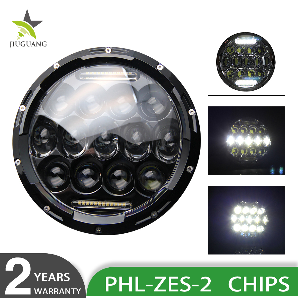 Parking Light 75W Angle Eyes 12V Led Headlight 7inch DRL 7 Inch Round Jeep Wrangler Led Headlight