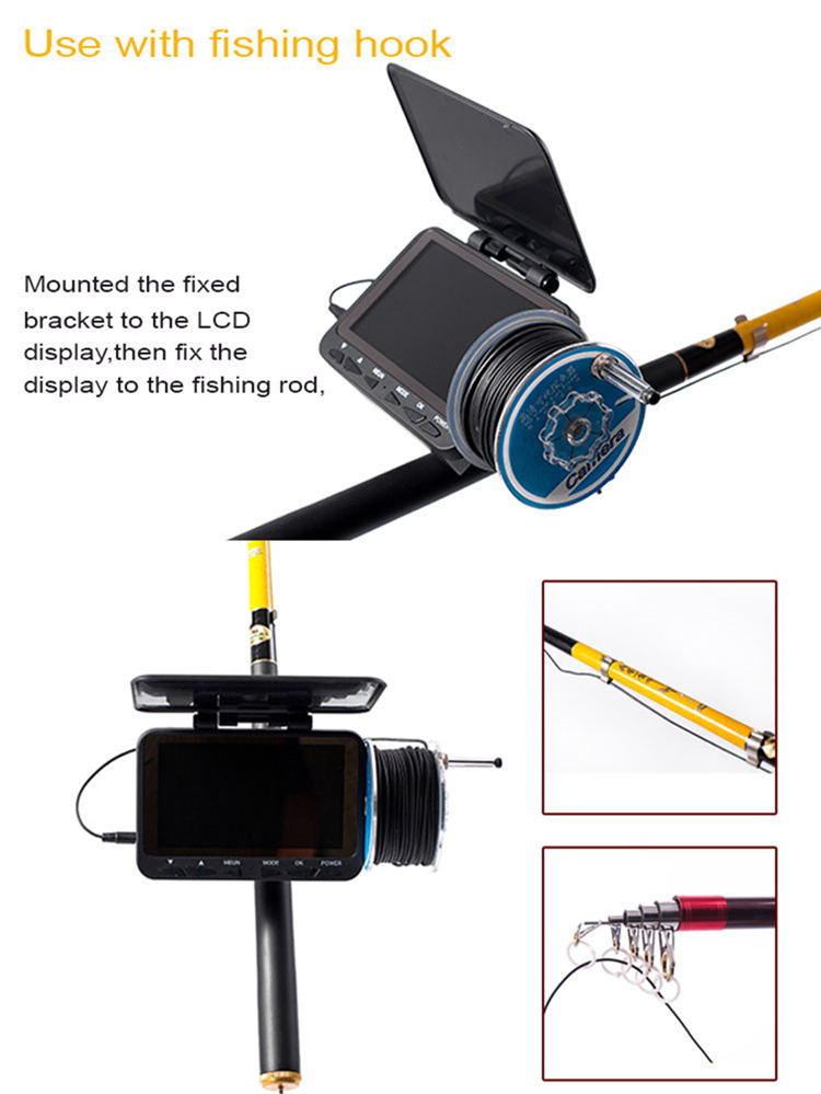 1000tvl stainless steel lens video dvr night vision fish finder underwater ice fishing camera