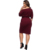 Shoulder Button Fastening Waistband With High Comfort Fat Lady Women Plus Size Dress