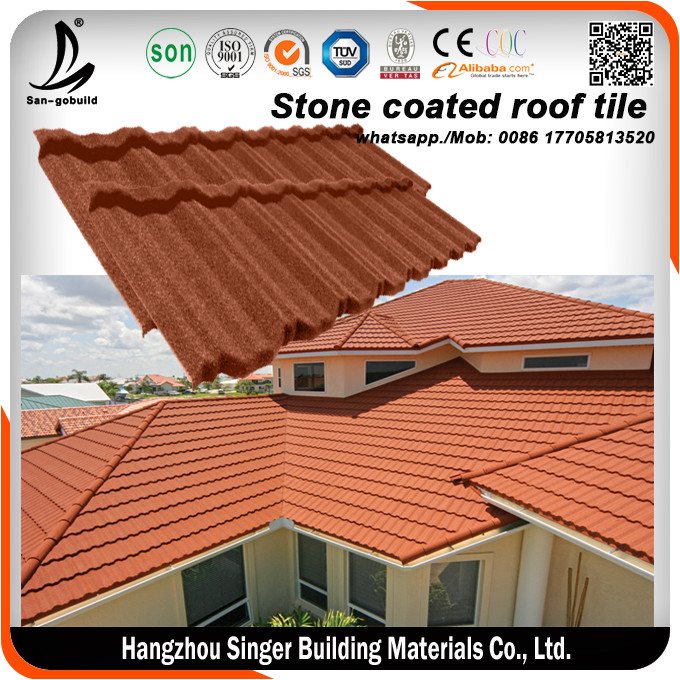 Nigeria Hot Sale PVC Rain Gutter And Accessories And Lowes Stone Coated Roofing Tile Price Philippines