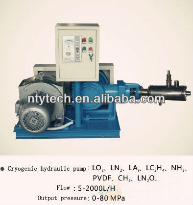 Huge flowing cryogenic pump LO2,LN2,LAr,LCO2