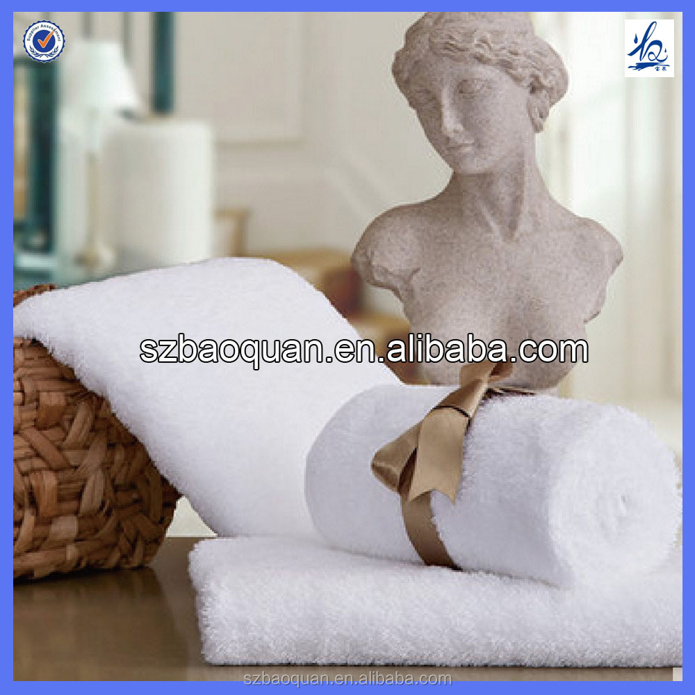 China Factory Supply 100% Cotton white Hotel Face Towel