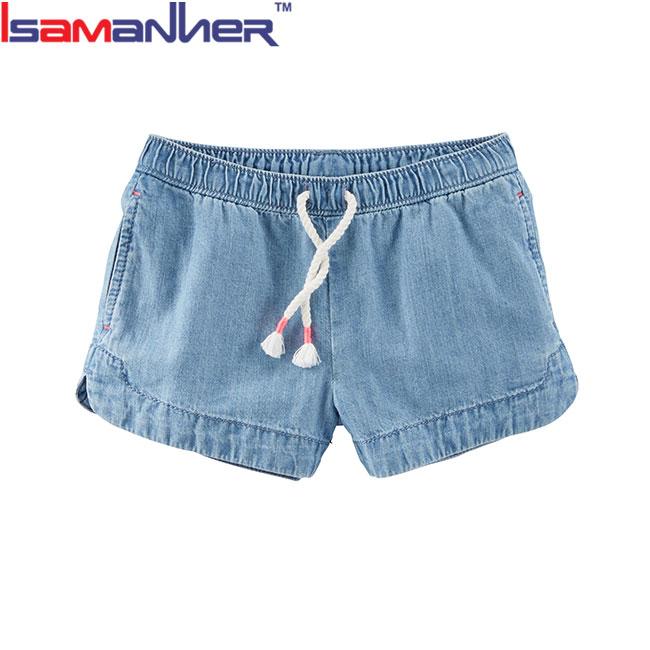 Colore personalizzato dissolvenza prova di bambini vestiti di estate delle ragazze pantaloncini