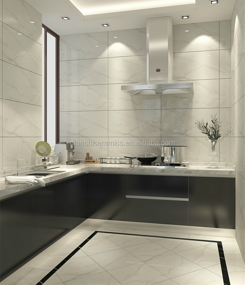 Kitchen Wall Tiles Types: White Carrara Marble Glazed Ceramic Wall Tile,Italian