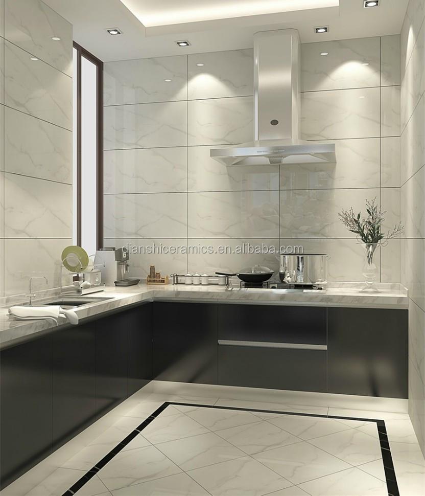 White Carrara Marble Glazed Ceramic Wall Tile Italian